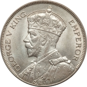 ½ Crown - George V – obverse