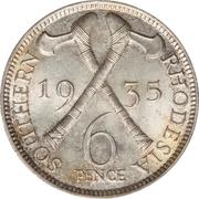 6 Pence - George V – reverse