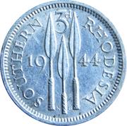 3 Pence - George VI – reverse