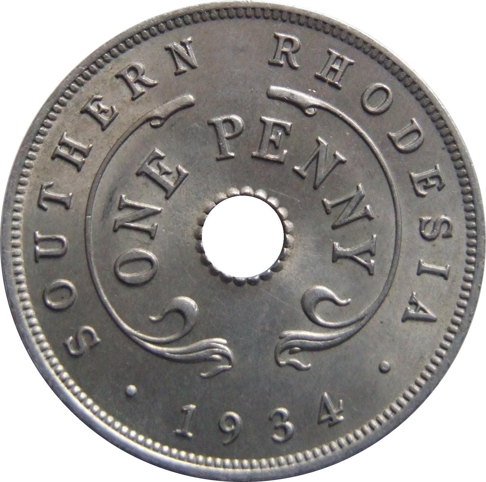 1 Penny - George V - Southern Rhodesia – Numista