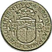 ½ Crown - Elizabeth II – reverse