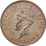 ½ Crown - George VI – obverse