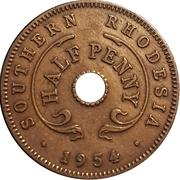 ½ Penny - Elizabeth II – reverse