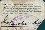 6 Pence - Bulawayo - Marshall Hole – obverse