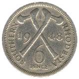 6 Pence - George VI – reverse