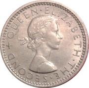 6 Pence - Elizabeth II (1st portrait) – obverse