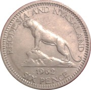 6 Pence - Elizabeth II (1st portrait) – reverse