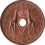 ½ Penny - Elizabeth II – obverse