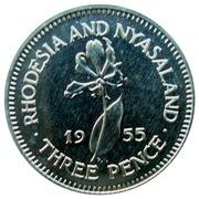 3 Pence - Elizabeth II (1st portrait; Silver Proof) – reverse