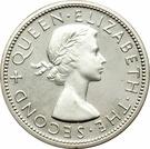 ½ Crown - Elizabeth II (1st portrait; Silver Proof) – obverse