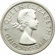 ½ Crown - Elizabeth II (1st portrait; Silver Proof) – obverse