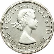 ½ Crown - Elizabeth II (1st portrait; Silver Proof Issue) – obverse