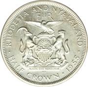 ½ Crown - Elizabeth II (1st portrait; Silver Proof) – reverse
