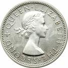 2 Shillings - Elizabeth II (1st portrait; Silver Proof) – obverse