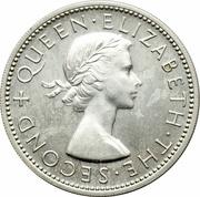 2 Shillings - Elizabeth II (1st portrait; Silver Proof Issue) – obverse