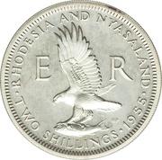 2 Shillings - Elizabeth II (1st portrait; Silver Proof) – reverse