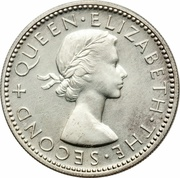 1 Shilling - Elizabeth II (1st portrait; Silver Proof) – obverse