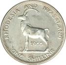 1 Shilling - Elizabeth II (1st portrait; Silver Proof) – reverse