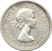 6 Pence - Elizabeth II (1st portrait; Silver Proof) – obverse