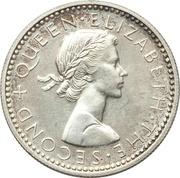 6 Pence - Elizabeth II (1st portrait; Silver Proof Issue) – obverse