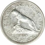 6 Pence - Elizabeth II (1st portrait; Silver Proof Issue) – reverse