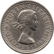 3 Pence - Elizabeth II (1st portrait) – obverse