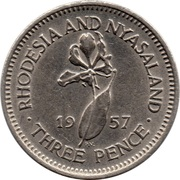 3 Pence - Elizabeth II (1st portrait) – reverse