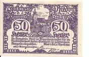 50 Heller (Ried im Traunkreis) – obverse