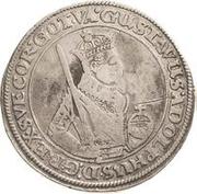 1 Dalderi - Gustav II Adolf (Looking forward) – obverse