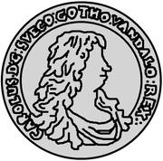 ½ Dalderi - Carl XI – obverse