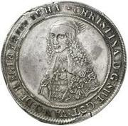 1 Dalderi - Christina (2nd portrait; small lettering) – obverse