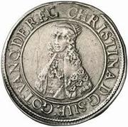 1 Dalderi - Christina (2nd portrait; large lettering) – obverse