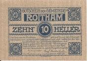 10 Heller (Roitham) – obverse