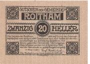 20 Heller (Roitham) – obverse