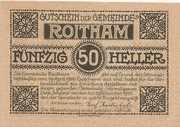 50 Heller (Roitham) – obverse