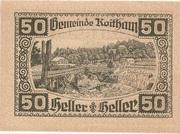 50 Heller (Roitham) – reverse