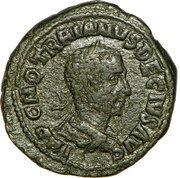 Sestertius - Trajan Decius (PMS COL VIM AN XII; Viminacium) – obverse