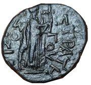 Dupondius - Nero (AΡIΣTIΩNOΣ ΣTΡATHΓOY; Apollo; Thessaly) – reverse