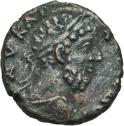 Æ 17 - Commodus (Augusta Traiana mint) – obverse