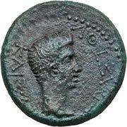 AE24 - Augustus [Rhoemetalkes I] – obverse