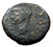 As - Tiberius (Emerita mint) – obverse
