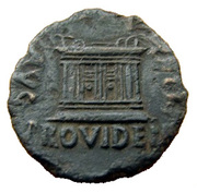 As - Tiberius (Emerita mint) – reverse
