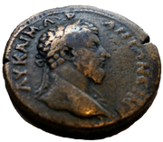 AE34 - Marcus Aurelius (Zeus seated, Apollonia Mordiaeum, Pisidia) – obverse