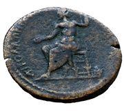 AE34 - Marcus Aurelius (Zeus seated, Apollonia Mordiaeum, Pisidia) – reverse