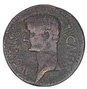 Dupondius - Tiberius (TI CAESAR AVGVSTVS ; Syrtica, Oea) – obverse