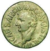 Dupondius - Tiberius (TI CAESAR DIVI AVG F AVGVST IMP VIII; Utica) – obverse