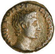 As - Augustus (P CARISIVS LEG AVGVSTI; Emerita Augusta) – obverse