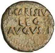 As - Augustus (P CARISIVS LEG AVGVSTI; Emerita Augusta) – reverse