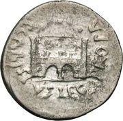 Denarius - Augustus (P CARISIVS LEG PRO PR EMERITA; Emerita Augusta) – reverse