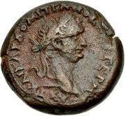 Diobol-Domitien ,Zeus Ammon (Alexandrie ) – obverse